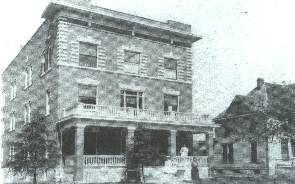 A historic photo of Burge Deaconess Hospital