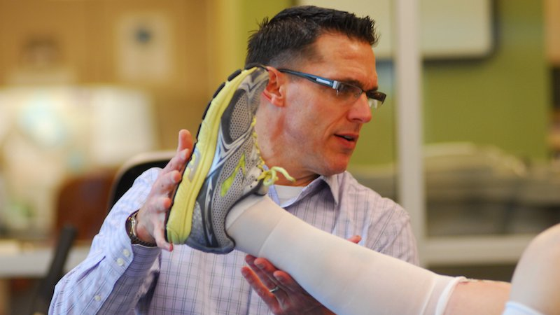 Trust our physical medicine and rehabilitation physicians to provide quick, careful evaluation and treatment for your sports-related injuries like what is shown here.