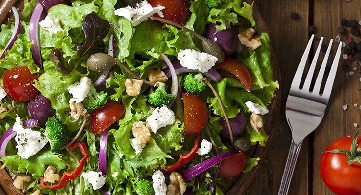 There's a colorful salad.