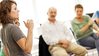 The Center for Addictions offers resources, including group therapy sessions like those pictured here.