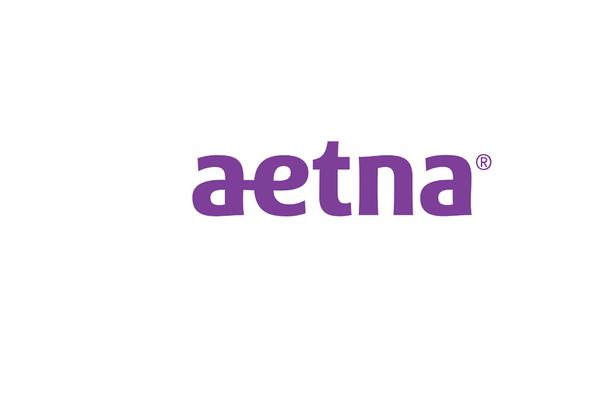 Aetna's logo is purple.