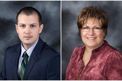 Head shots of Ryan McDowell, MD, and Debbie Blinzler, FNP