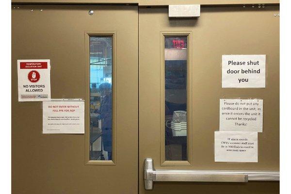 COVID unit doors
