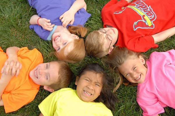 Group of children in a circle