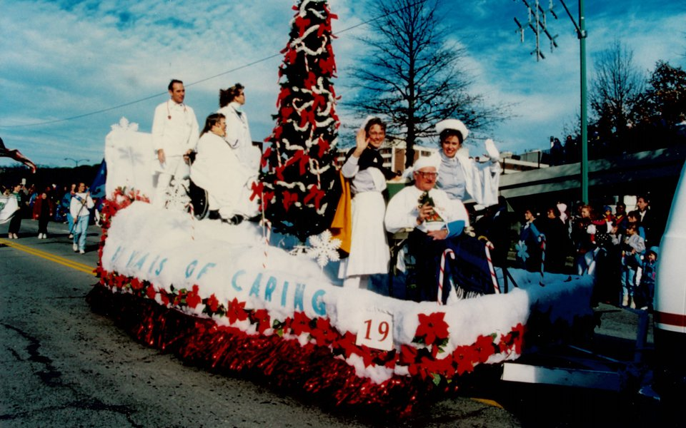 Christmas parade holiday float