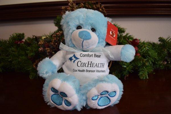 Blue bear stuffed animal