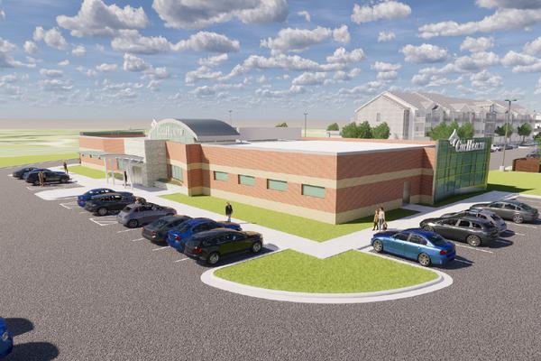 A rendering shows CoxHealth's Republic super clinic