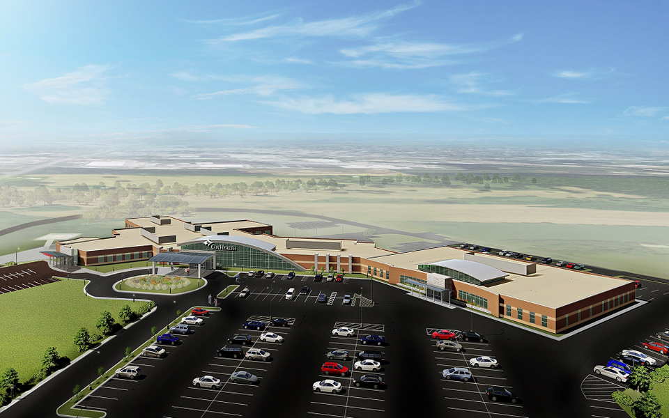 Rendering of Cox Monett Hospital as of February 2020
