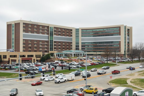 The photo shows the front of Cox Medical Center South.