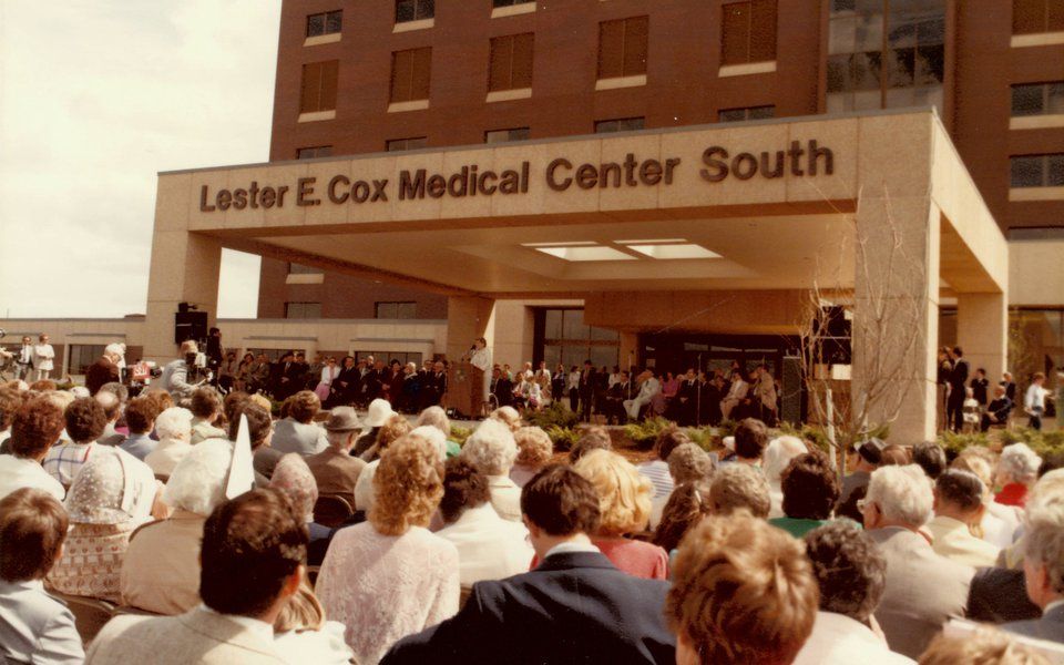 A historic photo of the Cox South grand opening