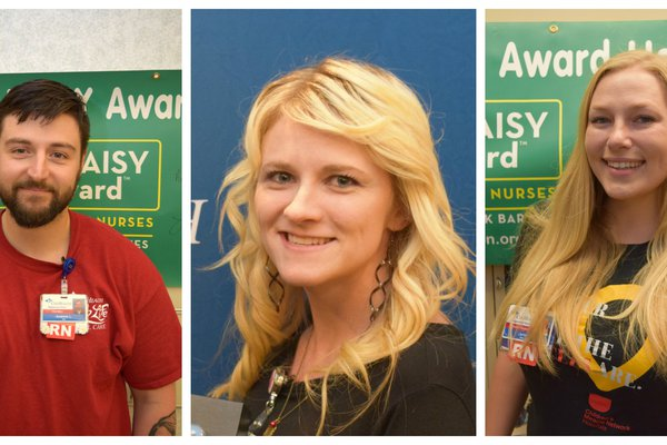 DAISY Award winners are pictured in October 2017.