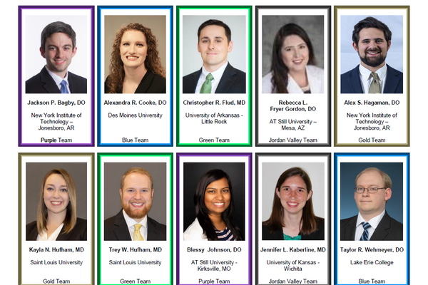 A collage shows the new residents in the Cox Family Medicine Residency