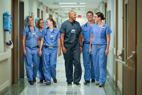 Physicians in the Cox Family Medicine Residency pose for a photo.