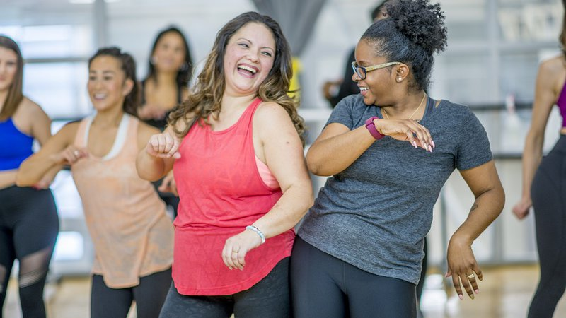 Two ladies enjoy an exercise class at CoxHealth Fitness Centers