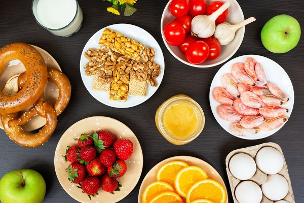 A photo shows a variety of dishes of food.