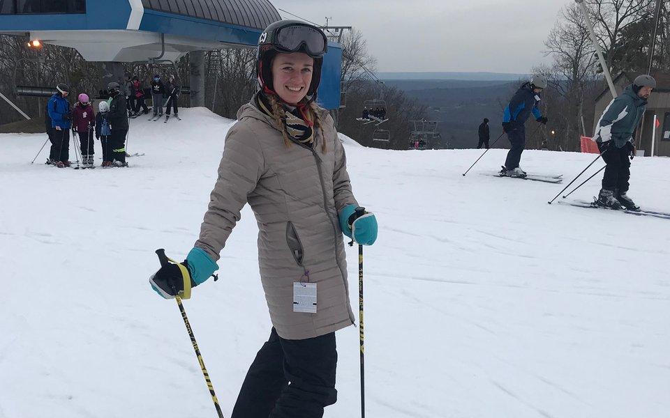 Resident skiing.