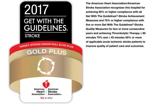American Heart Association gold plus logo