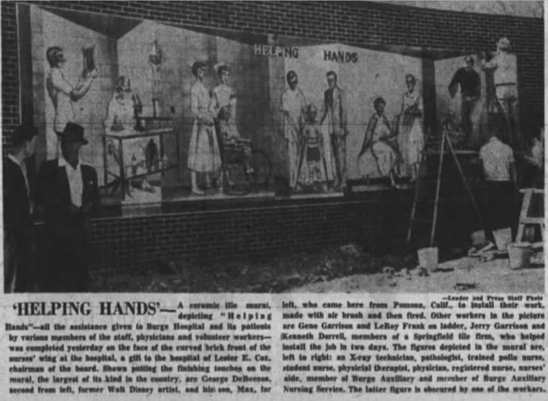 Newspaper clipping, Helping Hands