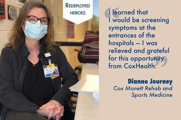 Dianne Journey was grateful for the chance to serve as an entrance screener