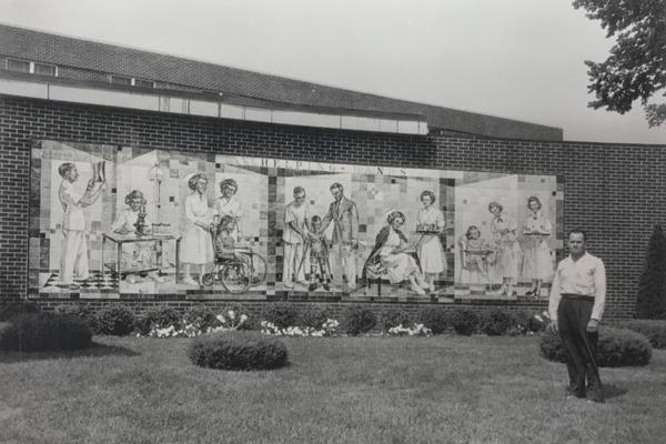 Photos show George Kieffer and his work around Cox North.