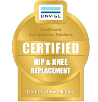 Logo for Certified Center of Excellence for Hip & Knee Replacement