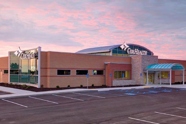Outside view of Cox Health