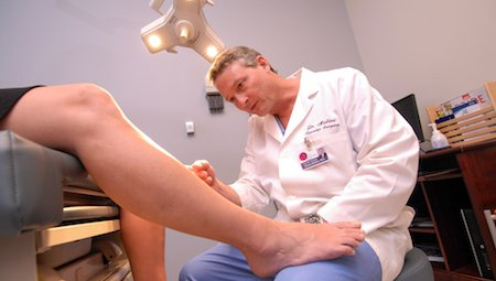 Microphlebectomy, a method of varicose vein care that minimizes size and bulging in varicose veins, is performed at the CoxHealth vein clinic in Springfield, Mo.