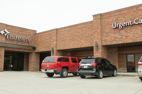 CoxHealth Urgent Care in Ozark is pictured.
