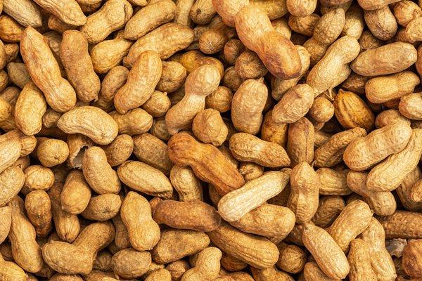 A photo shows peanuts.