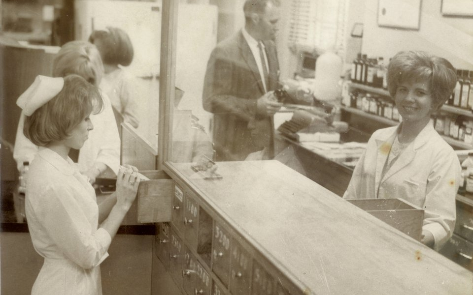 Pharmacy late early 60s