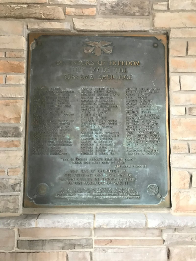 Cox Barton County Hospital plaque 1