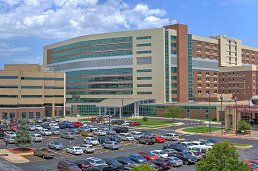 The image shows the front of Cox Medical Center South.