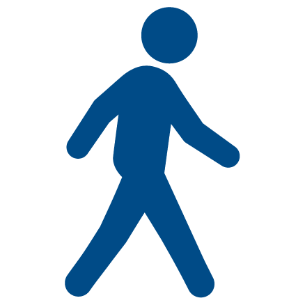 An illustration of a person walking
