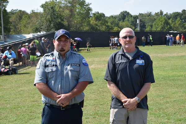 CoxHealth EMS professionals serve at The Wall That Heals in Ava.