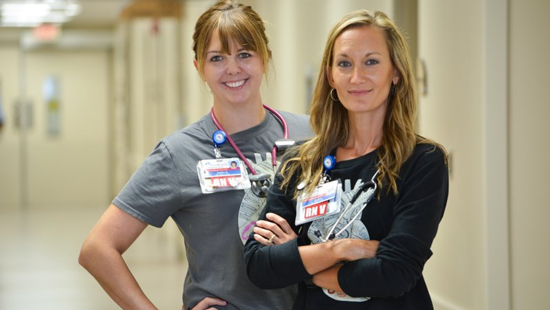 Two nurses are happy with their careers at CoxHealth.