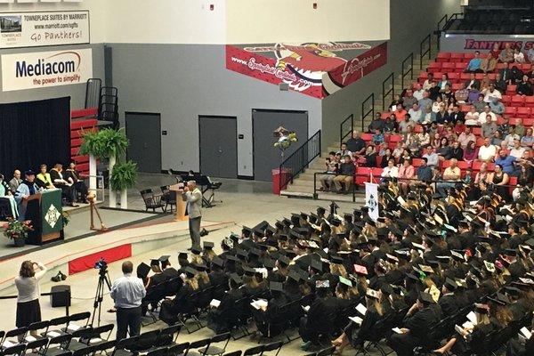 Cox College graduation ceremony.